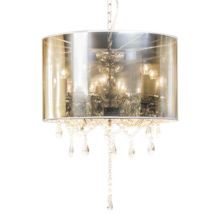 Lampadario-con-paralume-'Marie-Theresa-5-Magic'-moderno-grigio/plastica---adatto-per-LED-/-interno