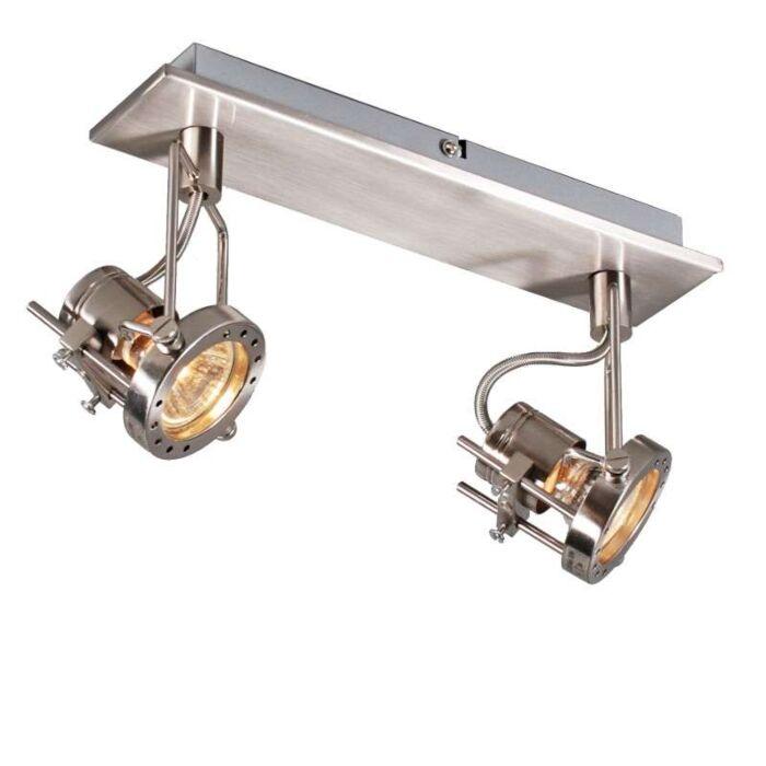 Faretto-'Suplux-2'-industriale-acciaio---adatto-per-LED-/-interno