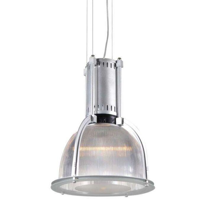 Lampada-a-sospensione-'Max'-industriale-trasparente/metallo---adatta-per-LED-/-interna