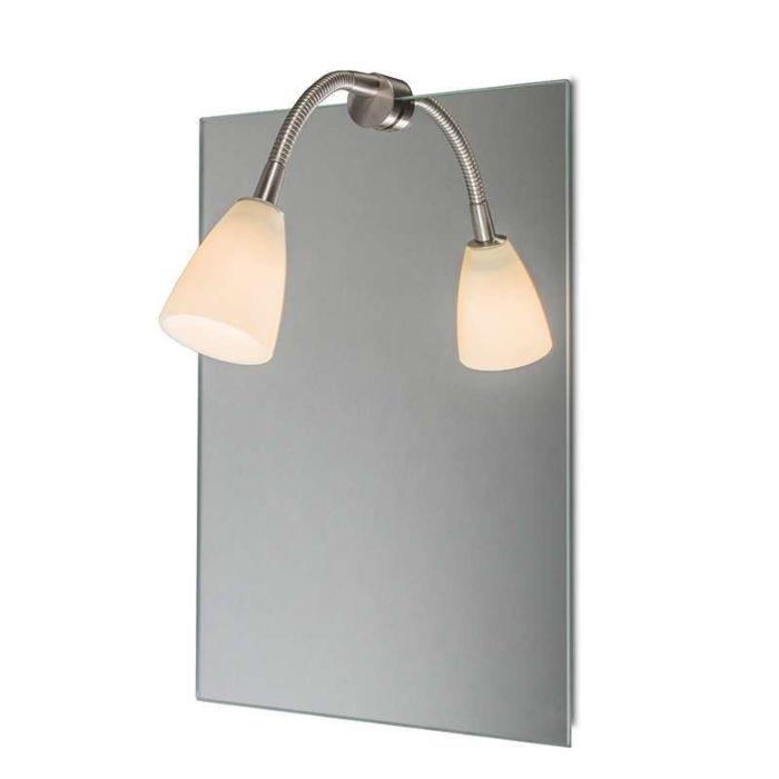 Illuminazione-per-specchio-'Curvus'-moderna-acciaio---adatta-per-LED-/-interna,-bagno