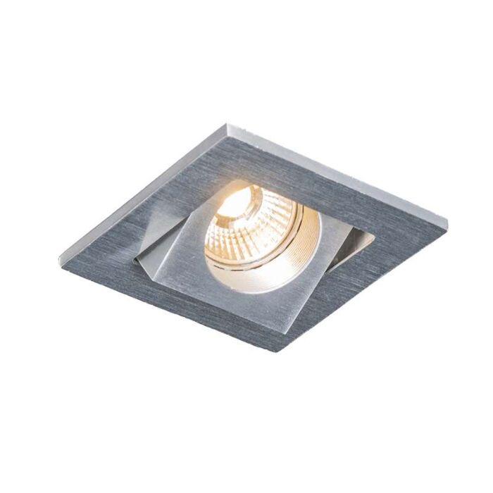 Faretto-da-incasso-'Quale-Q'-design-alluminio---adatto-per-LED,-include-LED-/-interno