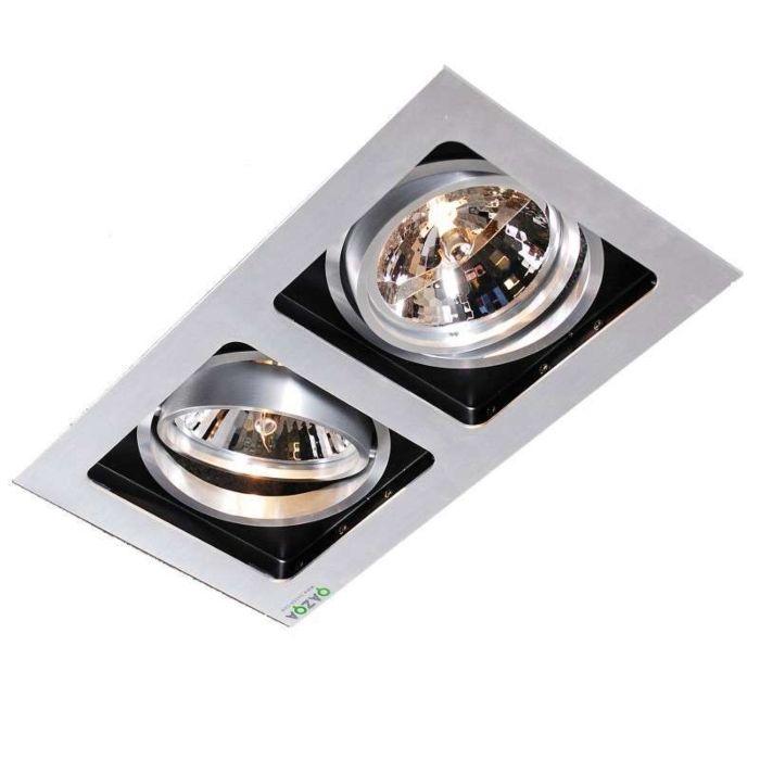Faretto-da-incasso-'Qure-2'-design-alluminio---adatto-per-LED-/-interno