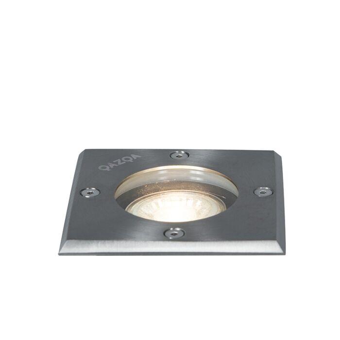 Faretto-da-terra-acciaio-10,5-cm-IP65---BASIC-Square