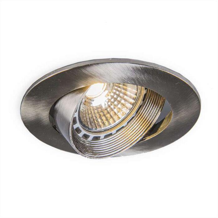 Faretto-da-incasso-'Easy'-moderno-acciaio---adatto-per-LED,-include-LED-/-interno