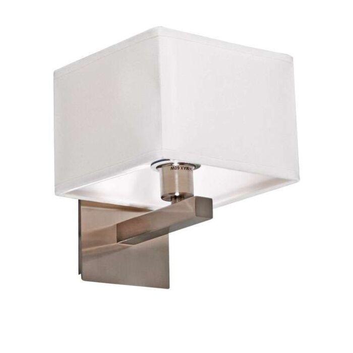 Applique-con-paralume-'VT'-design-acciaio---adatto-per-LED-/-interno