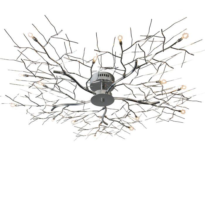 Plafoniera-grande-'Forest-15'-moderna-cromo---adatta-per-LED-/-interna
