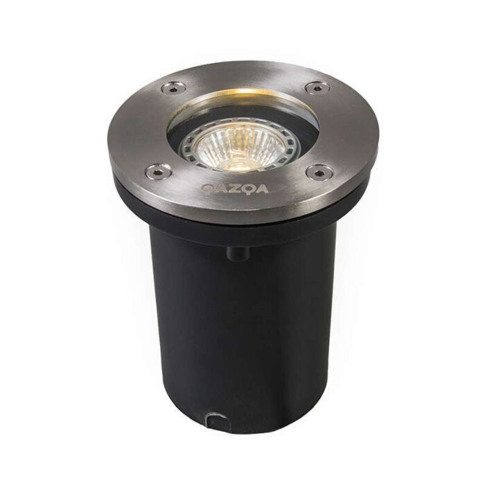 Spot-da-esterno-in-acciaio-IP65---Base-tonda