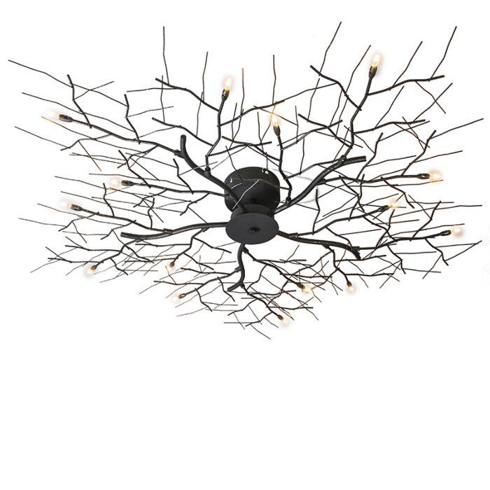 Plafoniera-grande-'Forest-15'-design-marrone-ossido/metallo---adatta-per-LED-/-interna