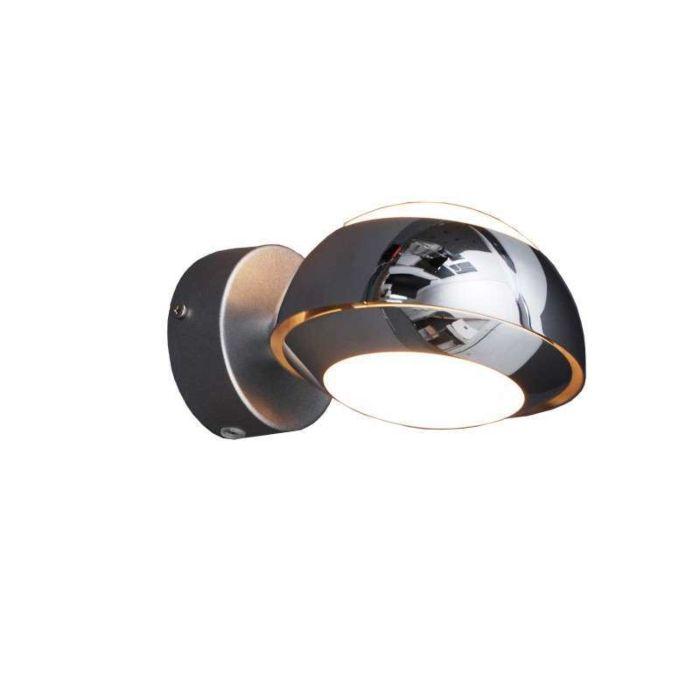 Applique-'Curio-1'-design-cromo/alluminio---adatto-per-LED-/-interno