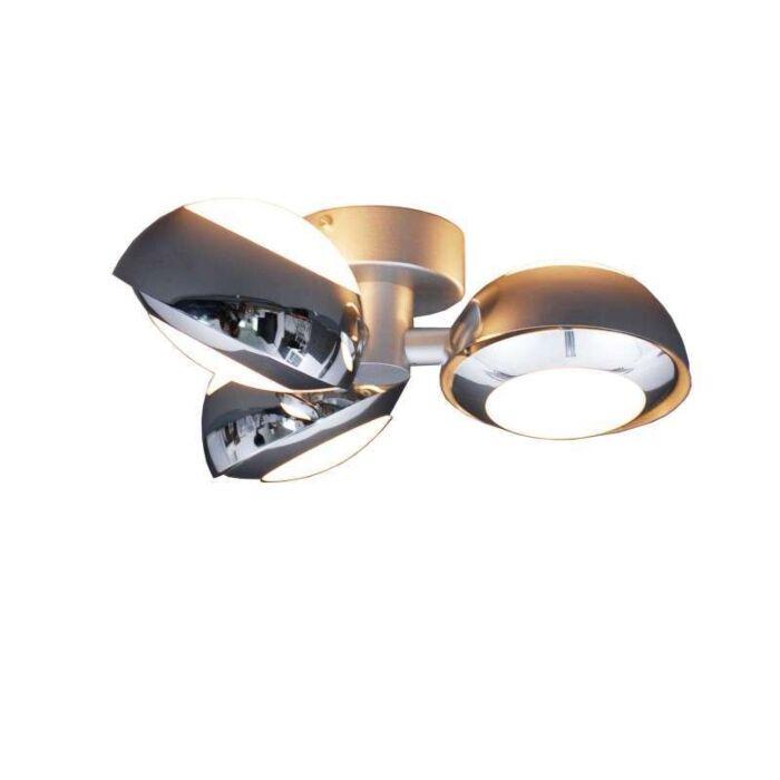 Plafoniera-'Curio-3'-design-cromo/alluminio---adatta-per-LED-/-interna