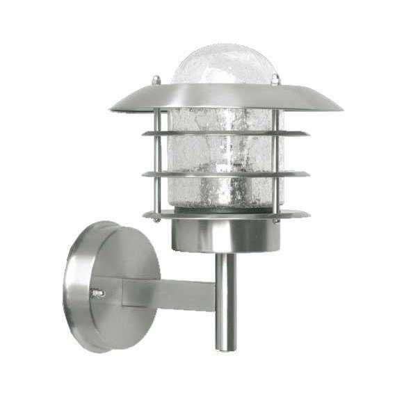 Applique-'Prato'-classico-acciaio-inossidabile---adatto-per-LED-/-esterno