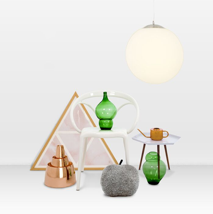 Lampada-a-sospensione-moderna-in-vetro-40-cm---Sfera