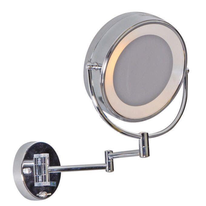 Illuminazione-per-specchio-da-radersi-e-truccarsi-'ME'-moderna-cromo---interna,-bagno