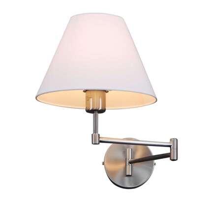 Applique-con-paralume-'Swing'-classico-acciaio---adatto-per-LED-/-interno