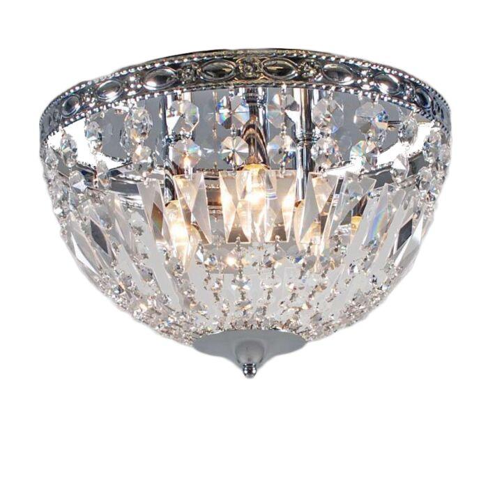 Plafoniera-'Mozart'-classico-trasparente/cristallo---adatta-per-LED-/-interna