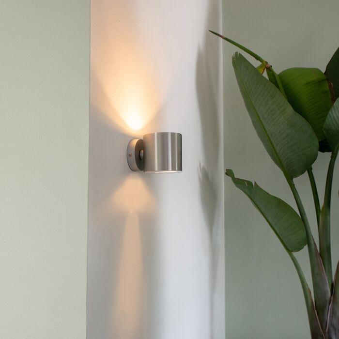 Applique-moderno-alluminio-tondo---EFFECT