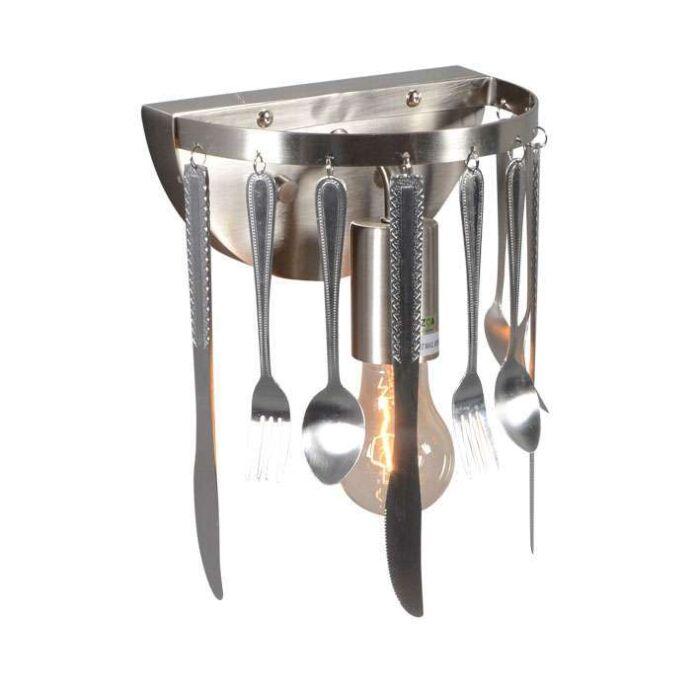 Applique-'Kitchen'-moderno-acciaio---adatto-per-LED-/-interno