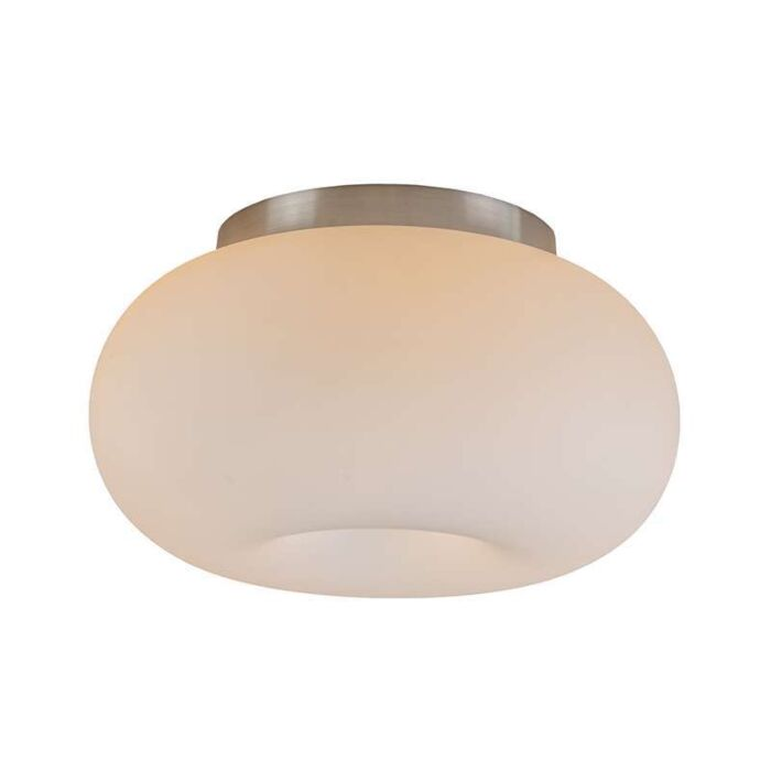 Plafoniera-'Seta-25'-retro-blanca/vetro---adatta-per-LED-/-interna