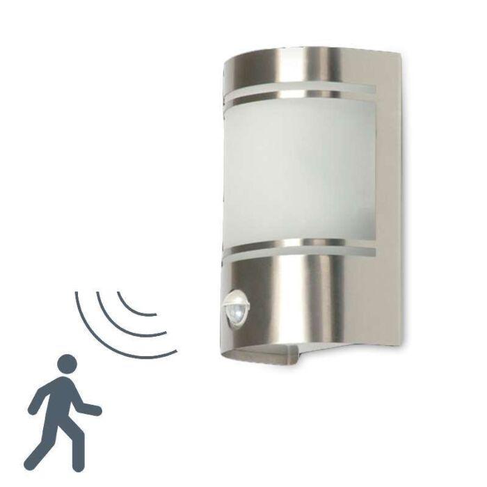 Applique-con-sensore-'Boston'-moderno-acciaio-inossidabile---adatto-per-LED-/-esterno