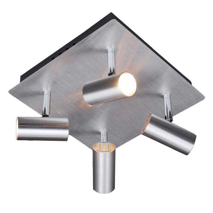 Faretto-'Oslo-4'-design-alluminio---adatto-per-LED-/-interno