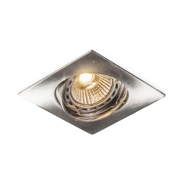 Faretto-da-incasso-quadrato-orientabile-in-acciaio---EDU