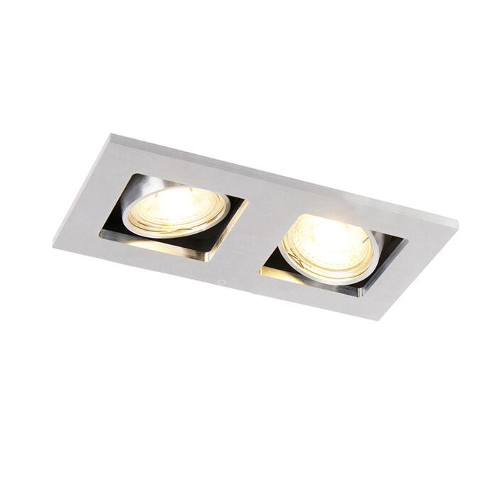 Faretto-da-incasso-alluminio-rettangolare-2-luci---QURE-