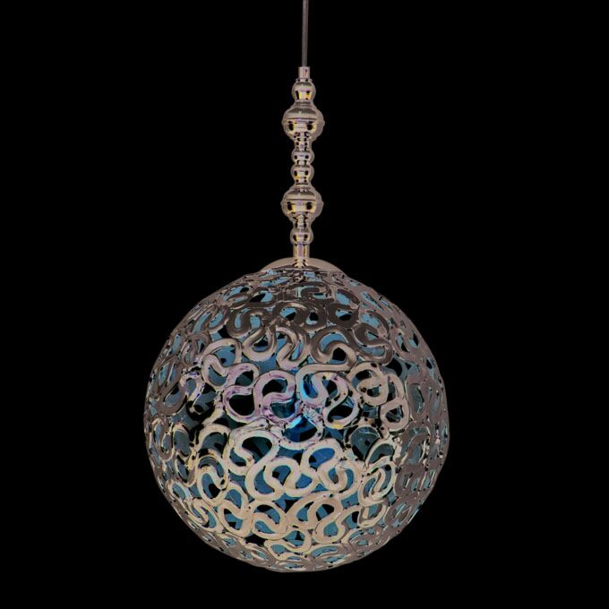 Lampada-a-sospensione-'pharaoh'-moderna-cromo---adatta-per-LED-/-interna