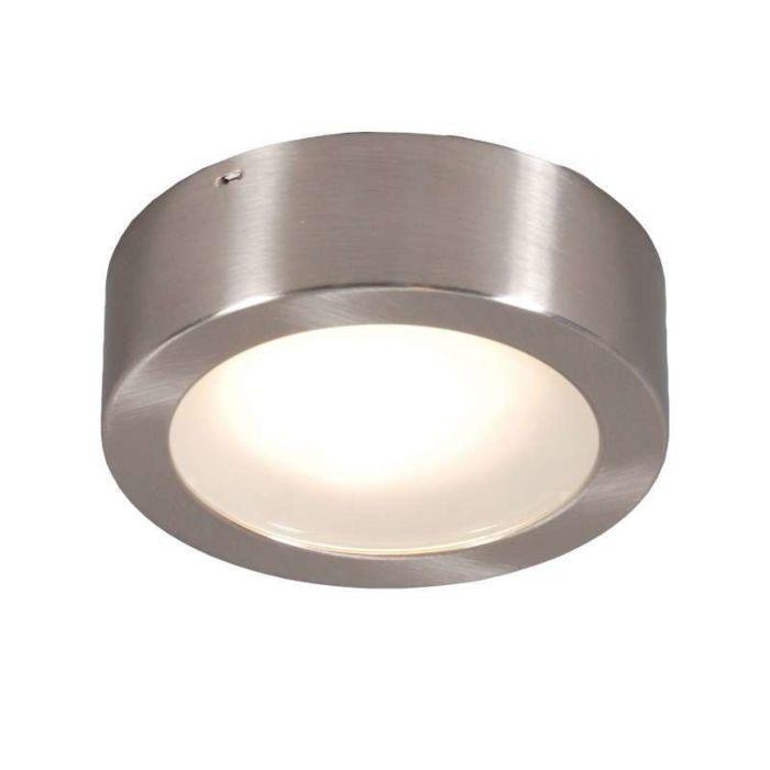 Lampada-da-soffitto/parete-'Thema-13-R'-moderna-acciaio---adatta-per-LED-/-interna