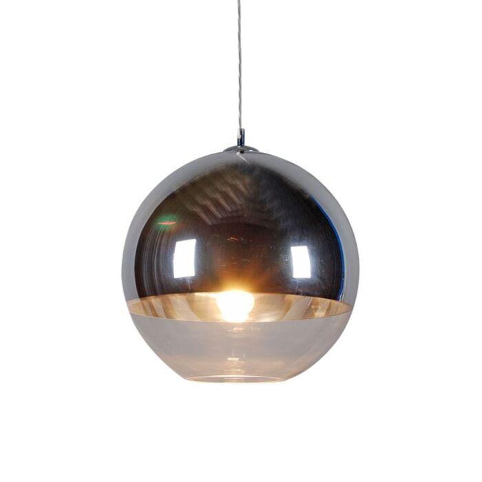 Lampada-a-sospensione-con-paralume-'Ball-40'-moderna-cromo---adatta-per-LED-/-interna