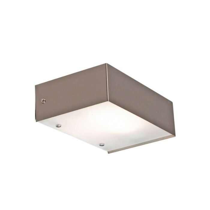 Applique-'Goole'-design-acciaio---adatto-per-LED-/-interno