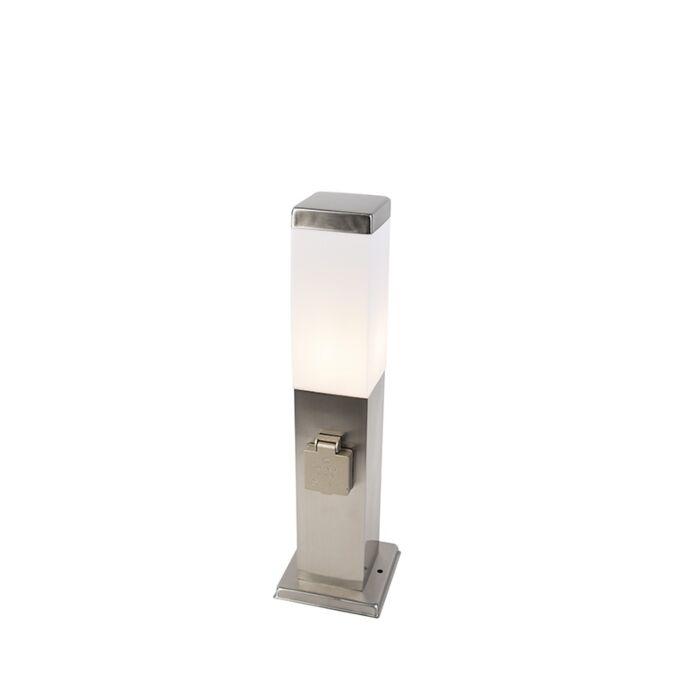 Lampioncino-esterno-moderna-in-acciaio-45-cm-con-spina-IP44---MALIOS
