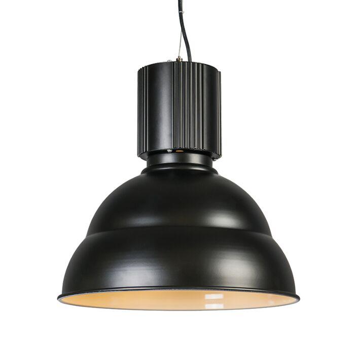 Lampada-a-sospensione-'Industrie'-industriale-nera/alluminio---adatta-per-LED-/-interna
