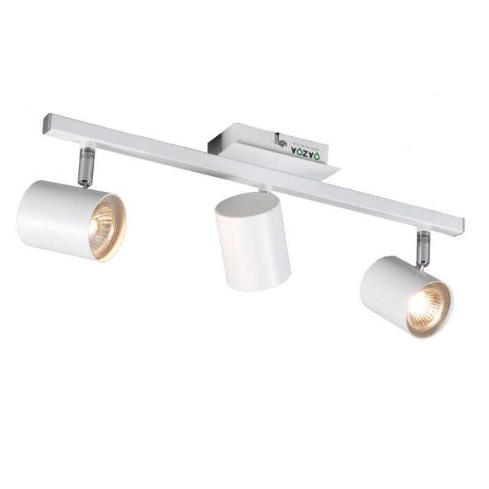 Faretto-'Attractive-3'-moderno-blanco/metallo---adatto-per-LED-/-interno