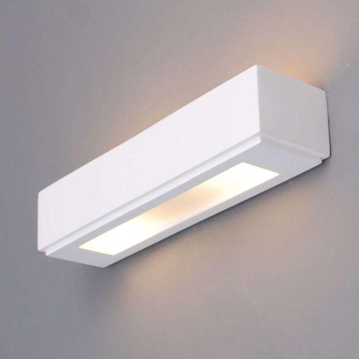 Applique-'Gipsy-Colmar'-moderno-blanco/intonaco---adatto-per-LED-/-interno