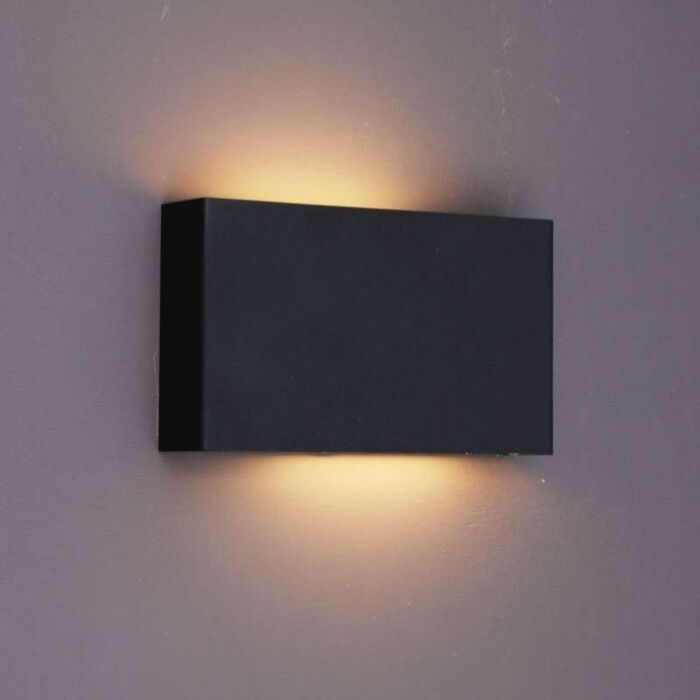 Applique-'Otan'-design-nero/metallo---adatto-per-LED-/-interno