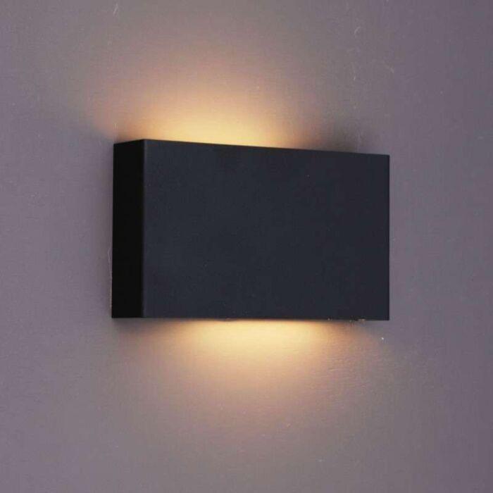 Applique-'Otan'-design-nero/metallo---adatto-per-LED-/-interno