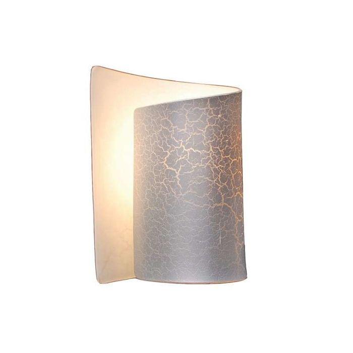 Applique-'Salerno'-design-acciaio/vetro---adatto-per-LED-/-interno