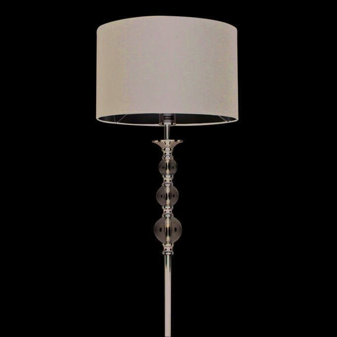 Lampada-da-terra-con-paralume-'Calabash'-moderna-nera/tessuto---adatta-per-LED-/-interna