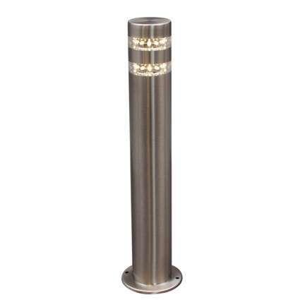 Palo-da-terrazza-'Satin-50'-moderno-acciaio-inossidabile---include-LED-/-esterno