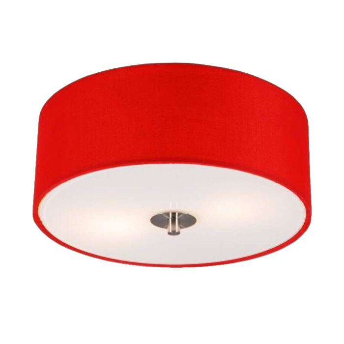 Plafoniera-moderna-rossa-30-cm---DRUM