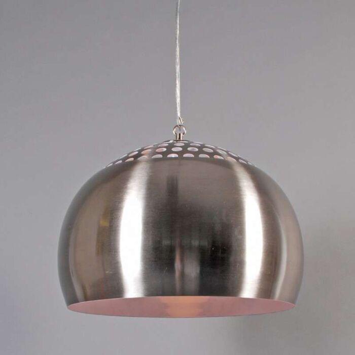 Lampada-a-sospensione-con-paralume-'Fermo-40'-retro-acciaio---adatta-per-LED-/-interna