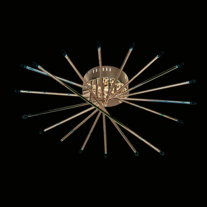 Plafoniera-'Mikado-18'-design-cromo---adatta-per-LED-/-interna
