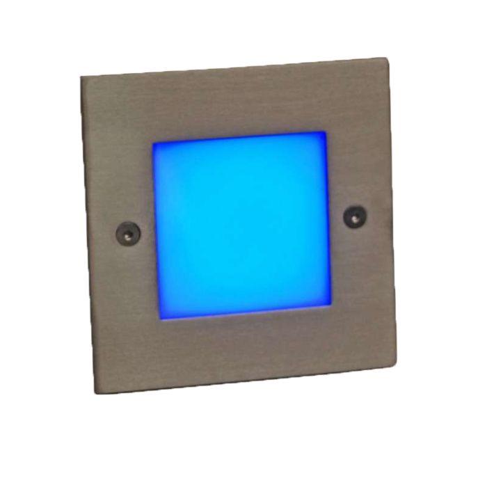 Faretto-da-incasso-'LEDlite-Square-10-B'-moderno-acciaio-inossidabile---include-LED-/-esterno,-interno,-bagno