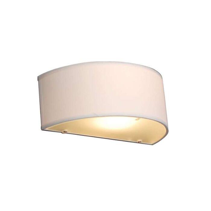 Lampada-da-parete-country-semicircolare-crema---Tamburo