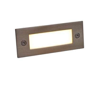Faretto-da-incasso-'LEDlite-Recta-11-WW'-moderno-acciaio-inossidabile---include-LED-/-esterno,-interno,-bagno
