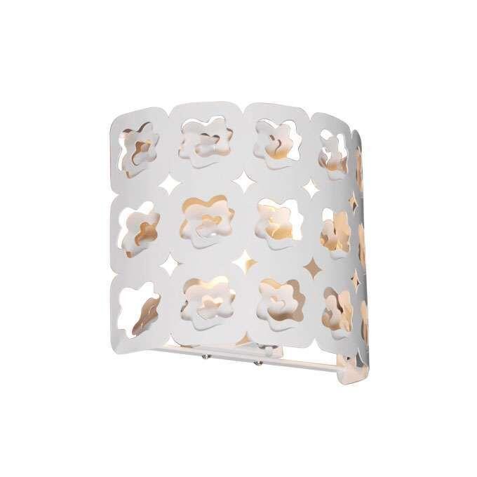 Applique-'Rose'-moderno-blanco/metallo---adatto-per-LED-/-interno