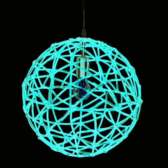 Lampada-a-sospensione-'Birdy-40'-retro-rossa/plastica---adatta-per-LED-/-interna