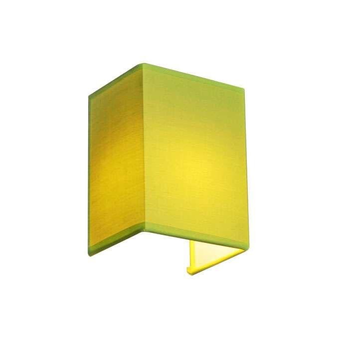Applique-'Vete'-moderno-verde/tessuto---adatto-per-LED-/-interno