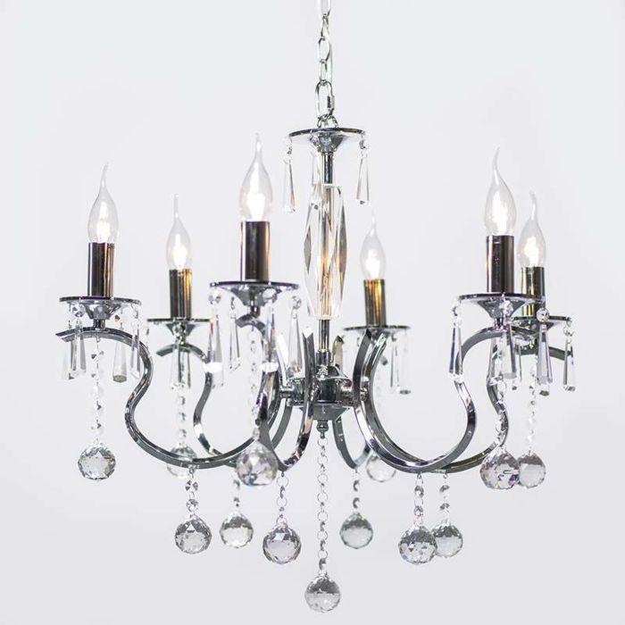 Lampadario-'Ann-Sophie'-classico-cromo---adatto-per-LED-/-interno