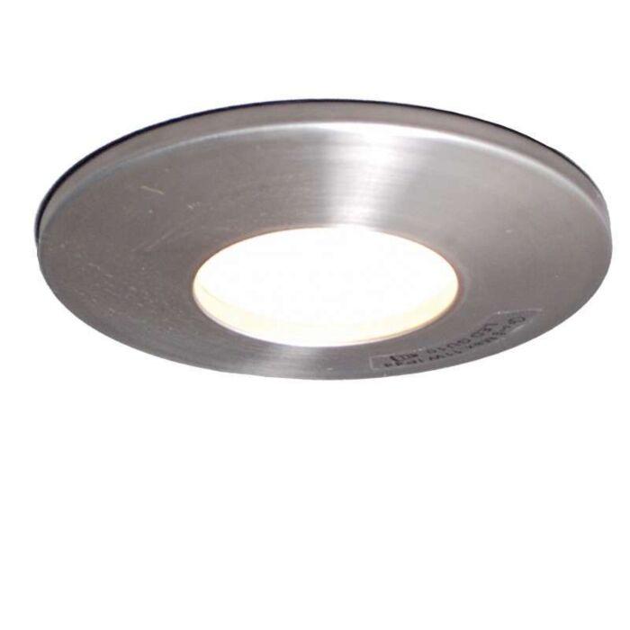 Faretto-da-incasso-'Splash-9'-moderno-acciaio-inossidabile---adatto-per-LED-/-esterno,-interno,-bagno